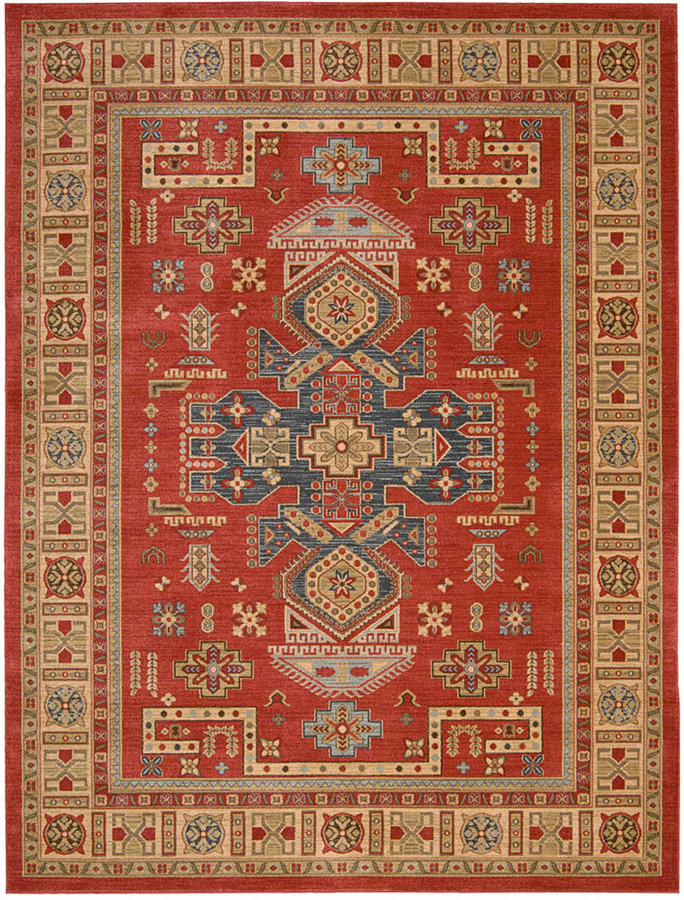 """Nourison Andalusia AND11 Red 5'3"""" x 7'4"""" Area Rug"""