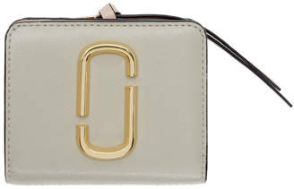 Marc Jacobs Grey Mini Snapshot Compact Wallet