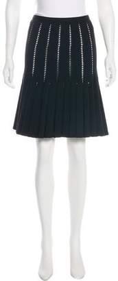 Alaia Knee-Length Wool Skirt