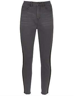 Mint Velvet Joliet Animal Print Side Stripe Jean