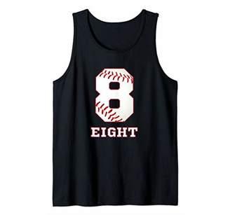 Baseball Number 8 Player Jersey No 8 Tank Top