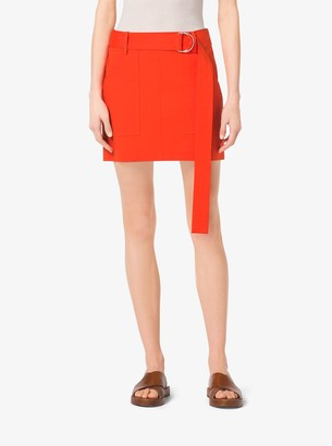 Michael Kors Cotton-Broadcloth Mini Skirt