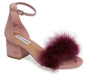 Women's Steve Madden Imelda Marabou Sandal $89.95 thestylecure.com