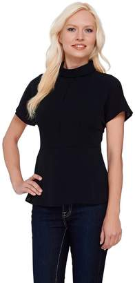G.I.L.I. Got It Love It G.I.L.I. Short Sleeve Roll Collar Blouse with Seam Detail