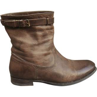 N.D.C. Made By Hand Brown Leather Ankle boots