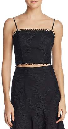Lucy Paris Maria Embroidered Cropped Top
