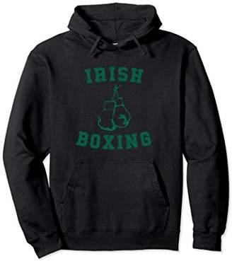 Irish Boxing Hoodie - Distressed Green Graphics