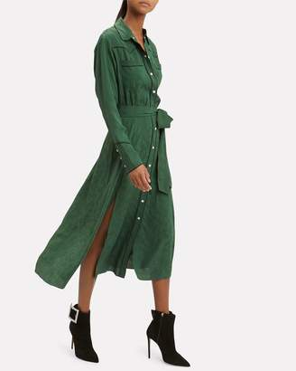 Veronica Beard Spur Green Midi Dress