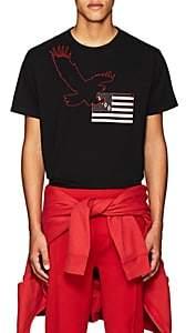 Marcelo Burlon County of Milan MEN'S EAGLE-FLAG COTTON T-SHIRT-BLACK SIZE XS