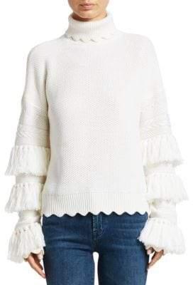 Jonathan Simkhai Wool Tassel Turtleneck Sweater