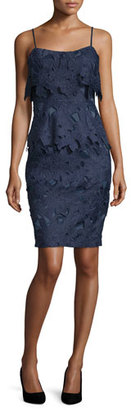 Black Halo Sleeveless Floral Popover Sheath Dress $390 thestylecure.com