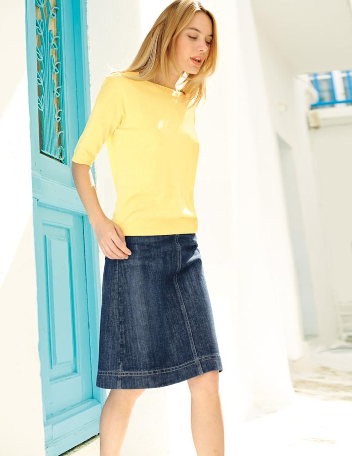 Boden Chic Denim Skirt