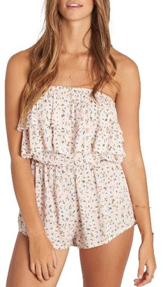 Women's Billabong Ruffled Up Strapless Romper $44.95 thestylecure.com
