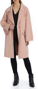 Madi Flare-Sleeve Wool Coat