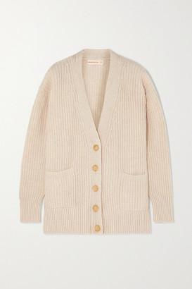 &Daughter Kira Ribbed Wool Cardigan - Cream