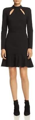 Alice + Olivia Marisela Ruffle-Hem Cutout Dress