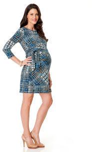 Motherhood 3/4 Sleeve Side Ruched Maternity Dress