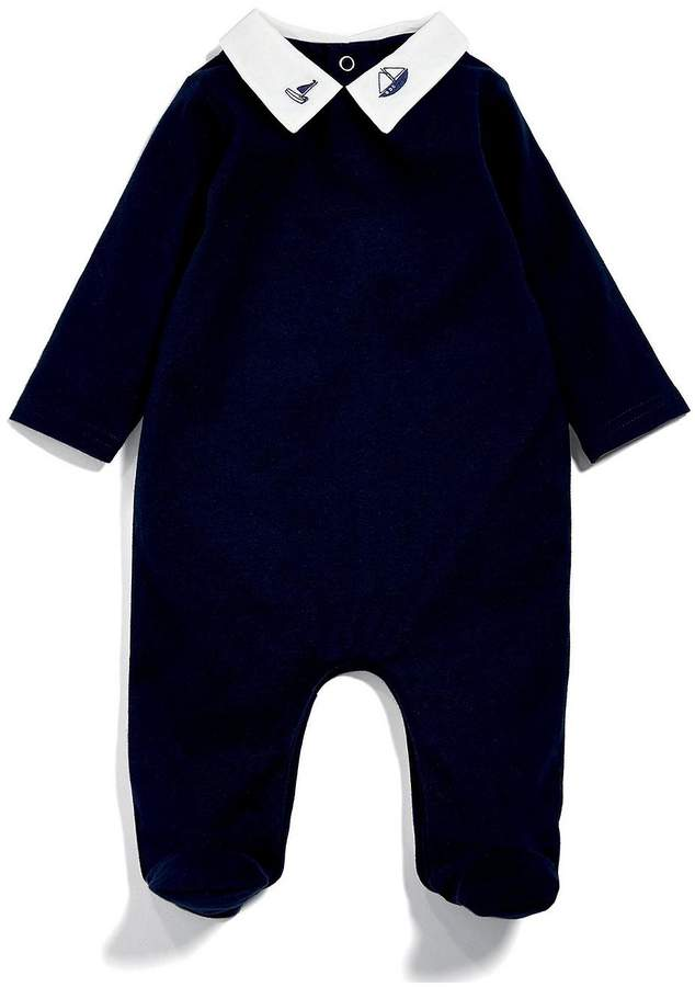 Baby Boys Embriodered Collar All In One