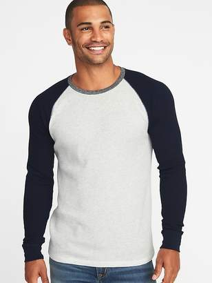 Old Navy Soft-Washed Thermal-Knit Raglan Tee for Men