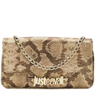 Just Cavalli snakeskin effect clutch