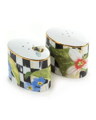 MacKenzie-Childs Thistle & Bee Salt & Pepper
