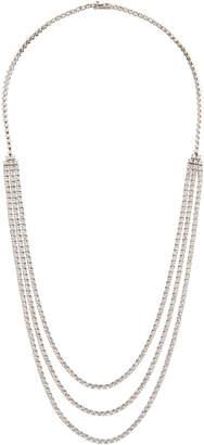 Diana M. Jewels 18k Three-Row Diamond Tennis Necklace