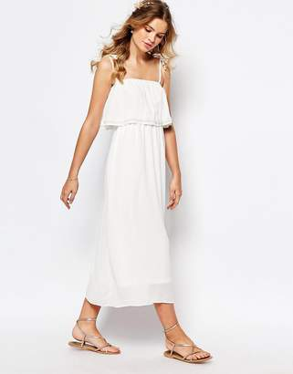 Darccy Cami Layered Maxi Dress with Embellished Neckline $82 thestylecure.com