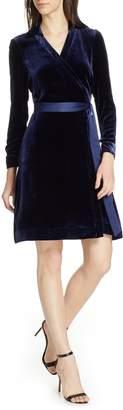 Diane von Furstenberg Velvet Wrap Dress