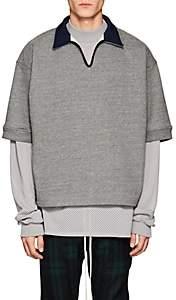 Fear Of God Men's Cotton-Blend Polo-Style Sweatshirt - Gray