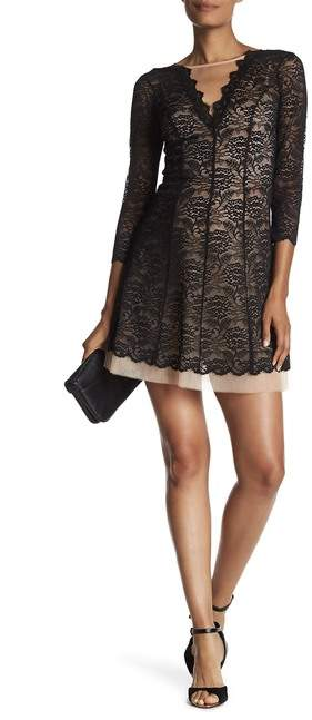 bebe 3/4 Sleeve Lace Dress