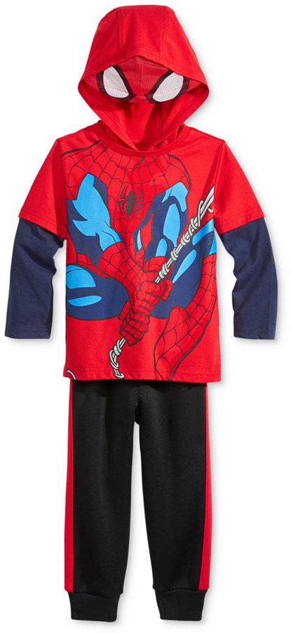 Nannette 2-Pc. Spider-Man Graphic-Print Hoodie & Pants Set, Toddler Boys (2T-4T)