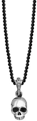 Men's King Baby 'Hamlet' Sterling Silver & Onyx Skull Pendant Necklace $370 thestylecure.com