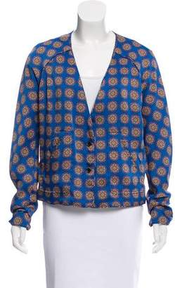 Thakoon Printed V-Neck Jacket
