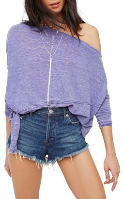 Women's Free People Love Lane Off The Shoulder Tee $68 thestylecure.com