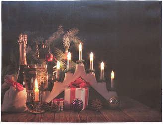 N.U.H. LED アートピクチャー Wine & Gift Candle