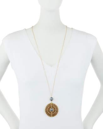 Panacea Round Smoky Crystal Pendant Necklace