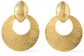 Ben-Amun Hammered Gold-Tone Clip Earrings