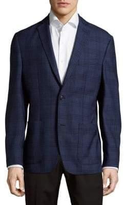 Saks Fifth Avenue Plaid Wool Jacket