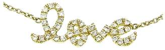Sydney Evan Diamond Script Love Bracelet - Yellow Gold