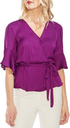 Vince Camuto Ruffle Sleeve Rumpled Blouse