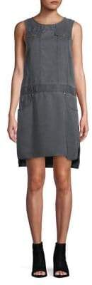 Jones New York Sleeveless Drop Waist Shirt Dress