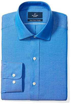 Buttoned Down Men's Classic Fit Spread-Collar Solid Non-Iron Dress Shirt (No Pocket)