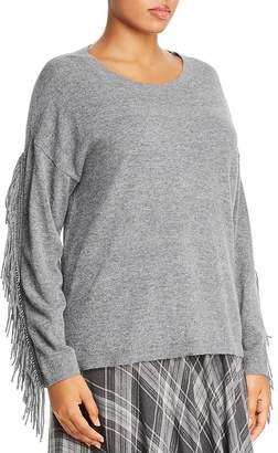 Marina Rinaldi Aereo Fringed-Sleeve Sweater