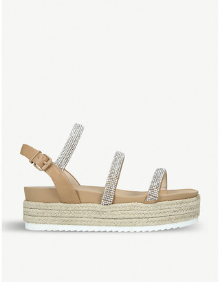 Kurt Geiger Rapid strass-embellished faux-leather sandals