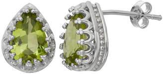 FINE JEWELRY Genuine Peridot Sterling Silver Earrings