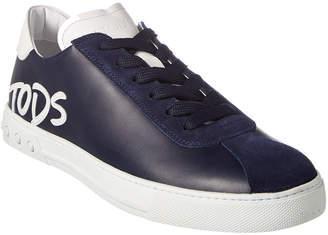 Tod's Logo Applique Leather Sneaker