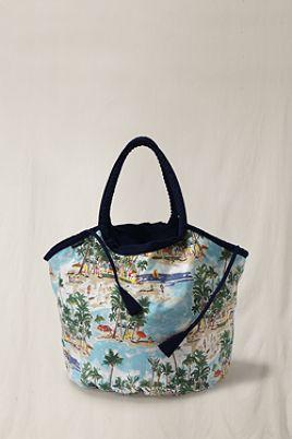 Large Reversible Canvas Beach Bag