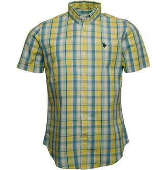 U.S. Polo Assn. Mens Reese Short Sleeve Shirt Empire Yellow