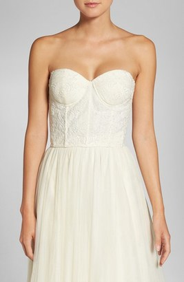 Women's Jenny Yoo Beaded Strapless Lace Bustier $595 thestylecure.com