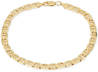 Macy's Men's Open Link Chain Bracelet (5-5/8mm) in Solid 10k Gold